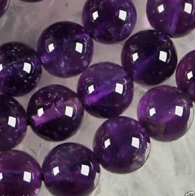 4-6-8-10mm Natural Russican Amethyst Gemstones Round Loose Beads 15''