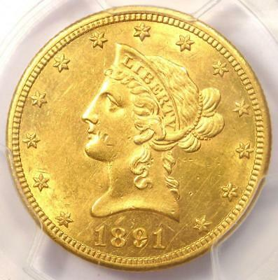 1891-CC Liberty Gold Eagle $10 - PCGS Uncirculated Detail (UNC MS) - Rare Coin!