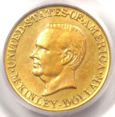1917 McKinley Commemorative Gold Dollar Coin G$1 - Certified PCGS MS60 (UNC)!