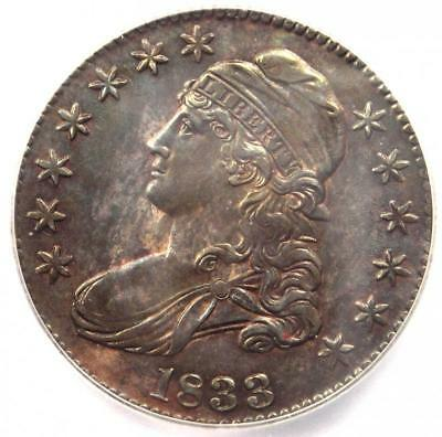 1833 Capped Bust Half Dollar 50C Coin O-102 - Certified ICG MS60 Detail (UNC MS)