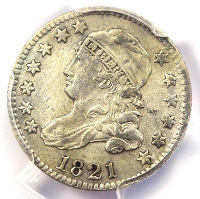 1821 Capped Bust Dime 10C - PCGS XF Detail (EF) - Rare Early Certified Coin!