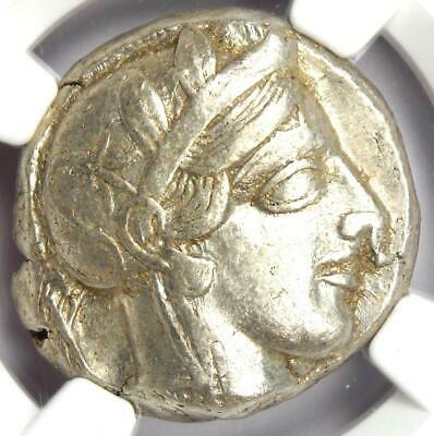 Ancient Athens Greece Athena Owl Tetradrachm Silver Coin (440-404 BC) - NGC XF!
