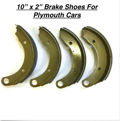 10' x 2' Brake Shoes for 1947 Plymouth P-15 FRESH STOCK