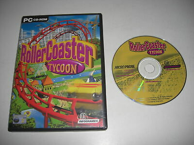 ROLLERCOASTER TYCOON 1 Pc Cd Rom Roller Coaster RCT RCT1 - FAST DISPATCH