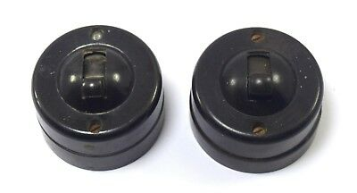 Original Vintage Pair Of Toggle Light Switch Decor Indian Collectible. i59-97 US
