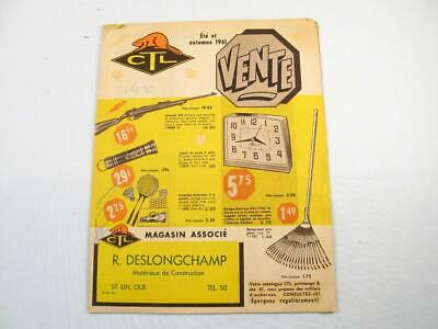 Vintage 1961 Ctl Summer & Autumn Catalog In French