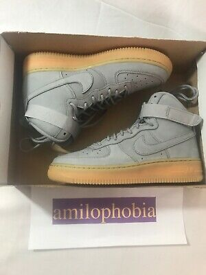 official photos 3c852 0c315 New Youth Nike Air Force 1 High WB (GS) Grey Brown Basketball Shoes Size