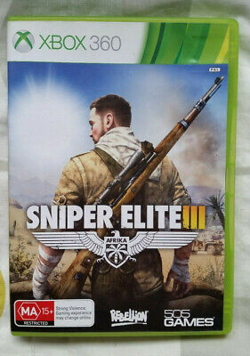 Sniper Elite III Afrika Microsoft XBOX 360 Replacement Case and Manual - NO GAME