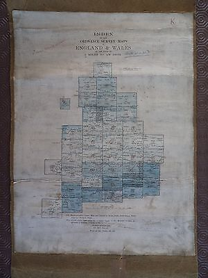 Ordnance Survey Index 2 mile maps 1910? Exeter Sudbury Nottingham Grimsby Hexham