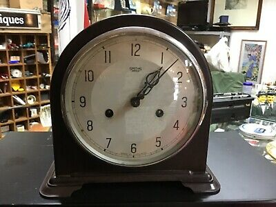 Smiths Enfield Bakelite dome top mantle clock working cleaned lubricated