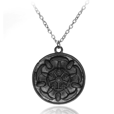 Game of Thrones Rose Sigil House Tyrell Growing Strong Necklace Pendant Gift Bag