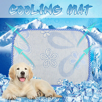 S/M/L/XL Cloth Cooling Mat for Dog Cat Pet Self Pillow Summer Hot Weather Bed