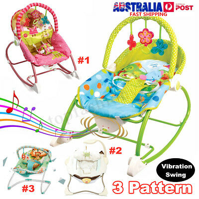 Baby Infant Rocker Bouncer Newborn Toddler Portable Swing Vibration Toy Music AU