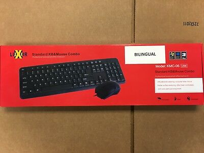 LUXOR Bilingual Multimedia Keyboard &Mouse usb Combo