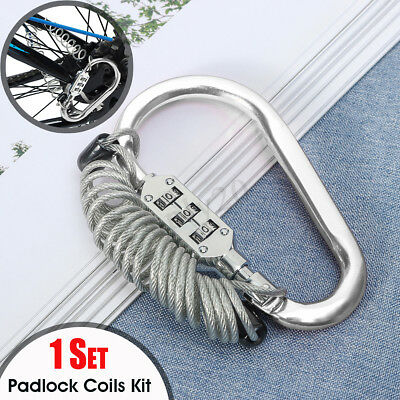Mini Padlock 3 Digit Travel Suitcase Luggage Security Code Lock + Coils AU
