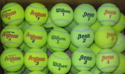 200 Used Tennis Balls mixed brands. High grade, Used indoor (tennis club)