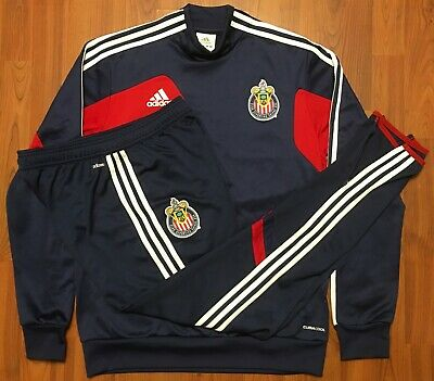 b11a5640a82 Authentic Adidas 2013 Guadalajara Chivas A.c. Fmf Match Warm Up Jersey Suit  Med