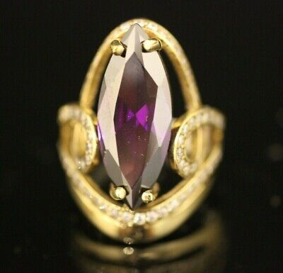 Gemstone Turkish Handmade Sterling Silver 925k And Bronze Amethyst Ring Size 6 7 8 9 10 Various Styles