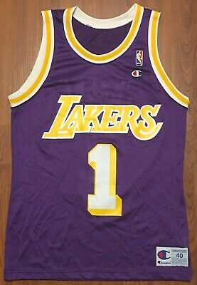 f21d18f187c Vintage Authentic Champion Anthony Peeler Los Angeles Lakers NBA Jersey Sz  40 M