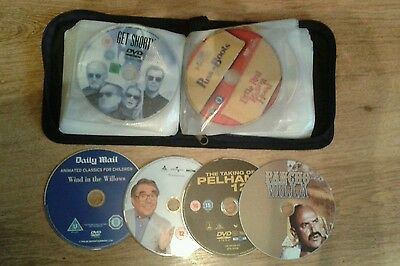 22 Dvds In Carry Case **All Genres**Great For Hols Etc**