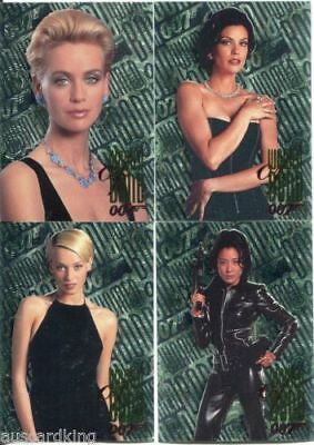 James Bond 007 - Tomorrow Never Dies - Women Of Bond - Complete 4 Card Chase Set