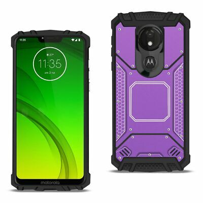MOTOROLA MOTO G7 Power Metallic Front Cover Case In Purple