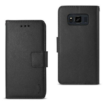 Reiko Samsung Galaxy S8 Active 3-In-1 Wallet Case In Black