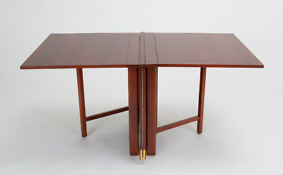 Bruno Mathsson Swedish Mid Century Modern Folding Gateleg Drop Leaf Dining Table