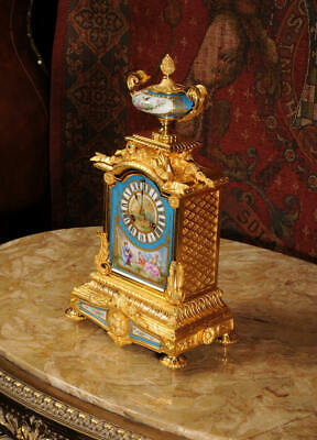 Japy Freres Sevres Porcelain and Ormolu Antique French Clock Stunning 1870