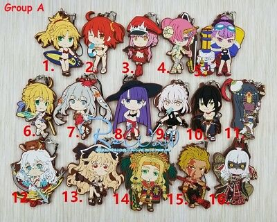 Hot Japan Anime Fate//Apocrypha FGO Karna Charm Rubber Strap Keychain Pendant F39