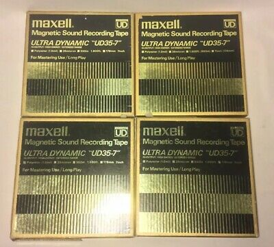 Vintage Maxell Ultra Dynamic UD35-7 Reel To Reel Magnetic Recording Tape Lot B5