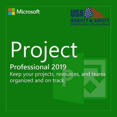 Genuine Project 2019 Professional. 32/64 bit. Product Key / Code + Download LINK