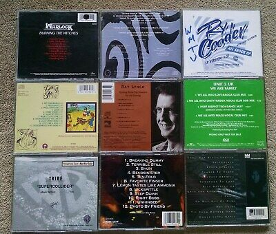 9 Lot 1990s Indie College Radio CDs WASP Warlock Burn the Witches promos