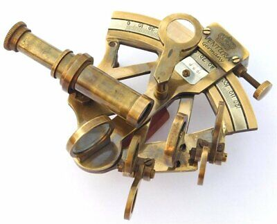 Antique Brass Nautical Sextant Maritime Astrolabe Marine for Office & Gifitng