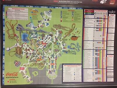 2014 Kings Dominion Amusement Park Map Guide 40th Anniversary official 40