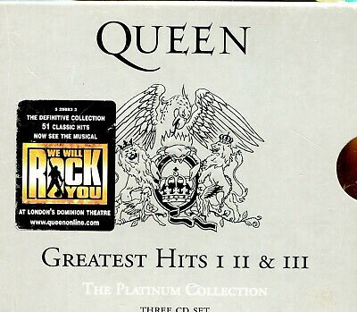 Queen / Greatest Hits 1, 2 & 3 - The Platinum Collection - 3CD - Slipcase