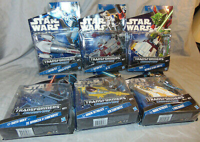 2010 Star Wars Transformers Crossovers Action Figures MIP w/ Original Box Hasbro