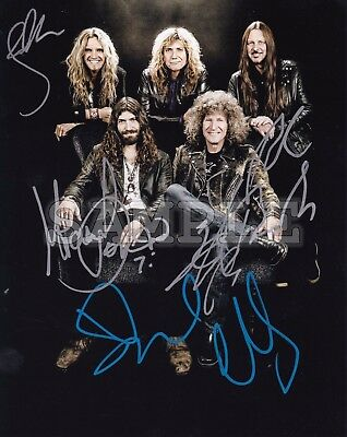 Whitesnake signed 8x10 Autograph Photo RP - Free Shipping! 80's Rock