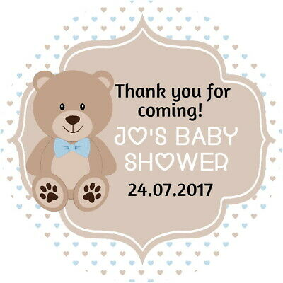PERSONALISED GLOSS CHRISTENING PINK// BABY SHOWER, CUTE LAMB PARTY STICKERS
