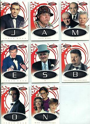 James Bond 007- 40th Anniversary - Card Letters Game Chase NEAR Set (8 of 9 - NM