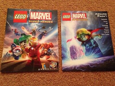 Manual & Code Only (no Game) - Marvel Super Heroes Asgard Pack Unused Code - PS4