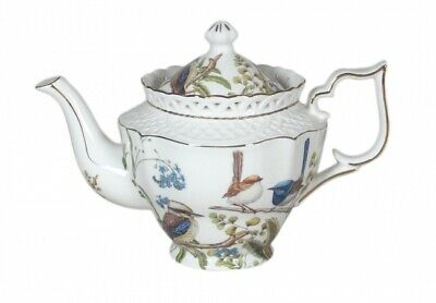 Australian Birds Teapot 1L Fine Bone China Tea Pot Kookaburra&Blue Wren Gift Box