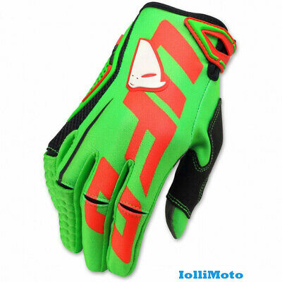 Guanti Moto Cross Enduro Mx Trial Glovers Ufo Blaze Adulto Verde Tagl.l