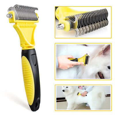 Grooming Tool Pet Dog Cat Stainless Steel Double-sided Open Knot Pet Comb Brush