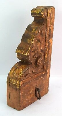 Solid Indian Wooden Handcrafted Cloth Hanger Vintage Key Hook Hanger. i75-119 AU