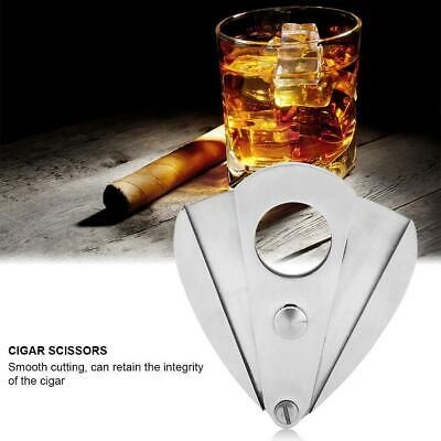 Portable Stainless Steel Pocket Cigar Tobacco Cutter Knife Scissors Double Blade