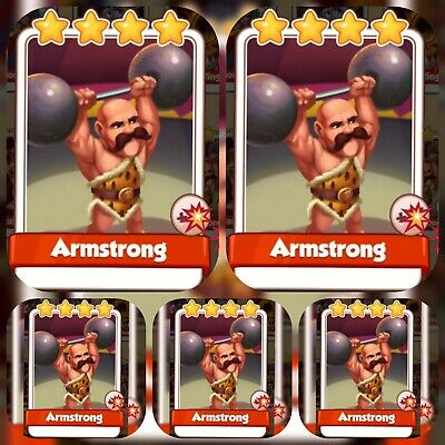 Coin Master Cards 5x ARMSTRONG. GET IMMEDIATELY.