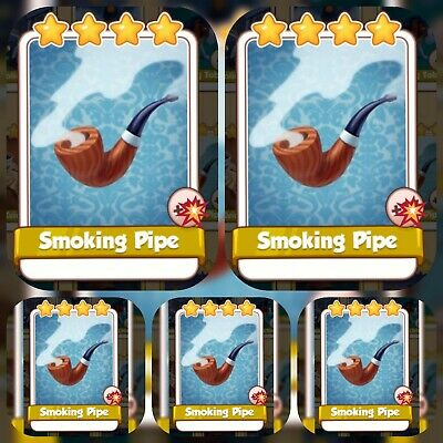 Coin Master Cards 5 x SMOKING pipe's card. GET IMMEDIATELY.