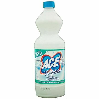 6 x Ace For Whites Laundry Bleach 1 Litre Removes Stains and Whitens Mrs Hinch