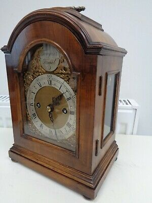 Antique/Vintage Mantel/Bracket Clock Double Fusee Movement Side Windows Working